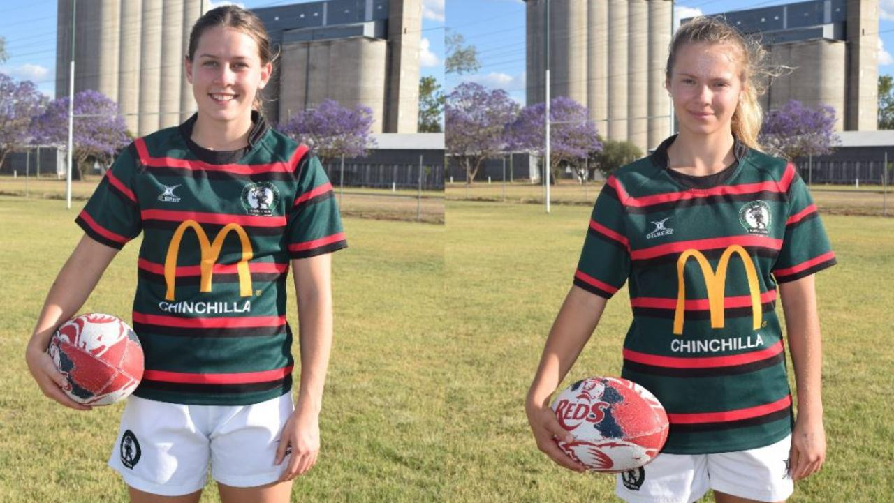 UP AND COMERS: Chloe Ellem and Seraphina Dickman couldn't believe the news when they found out they had been picked for the Queensland Reds side.