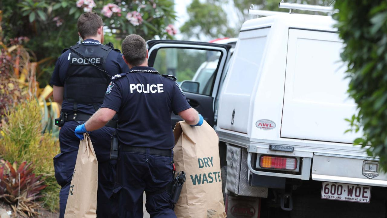 Police at the scene in Sunnybank Hills. Picture: Peter Wallis
