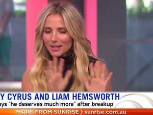 Elsa shuts down Hemsworth question