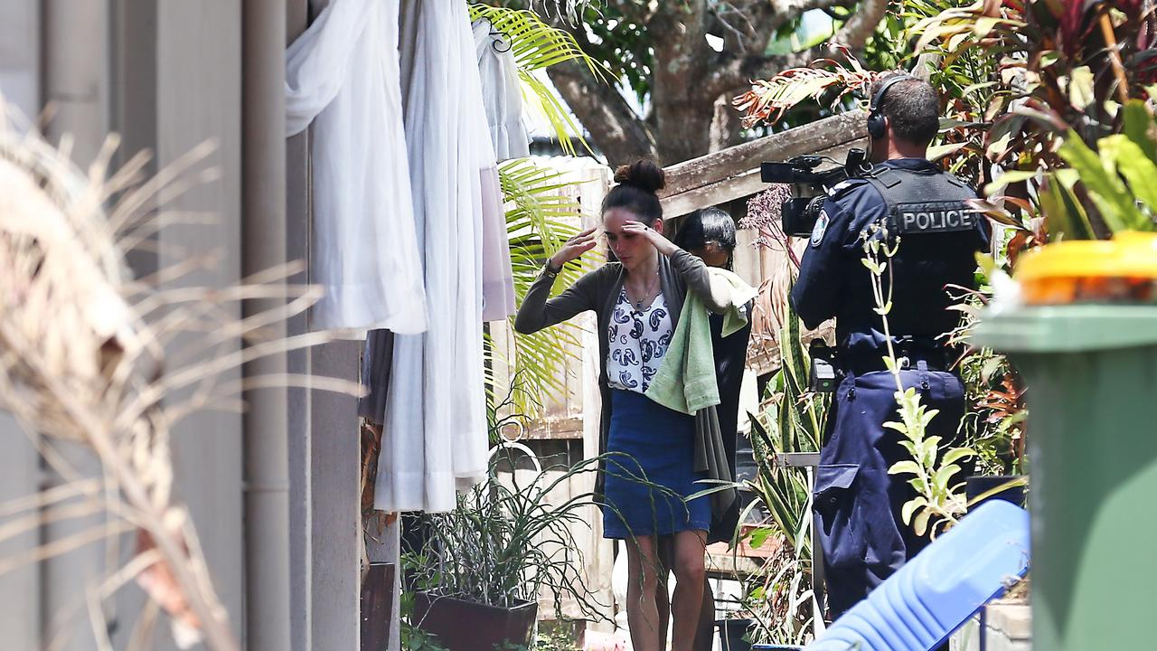 Forensic police and plain clothes detectives investigate the death of Makavelii Leoni. Leoni's mother Lina Daley helps police with their investigations. PICTURE: BRENDAN RADKE.
