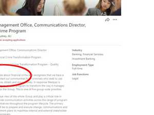 Westpac's awkward job ad fail