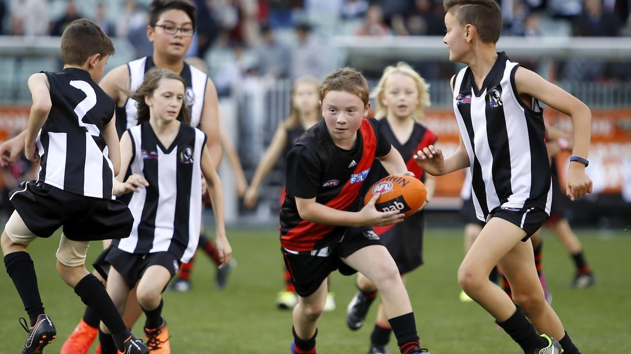 Auskick games will be affected by the halftime length change. Picture: AFL Photos