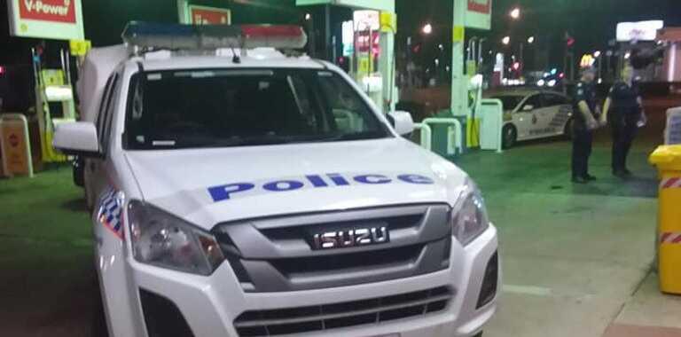 Police on scene where Rafael Santana's car was stolen