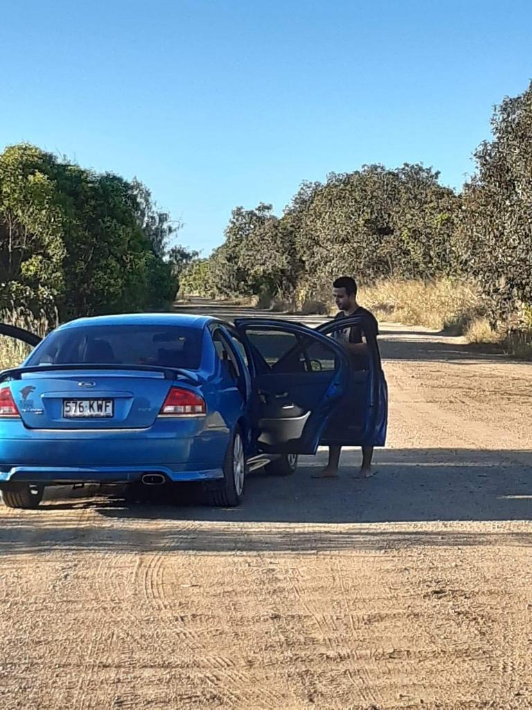 Rafael Santana's Blue Ford