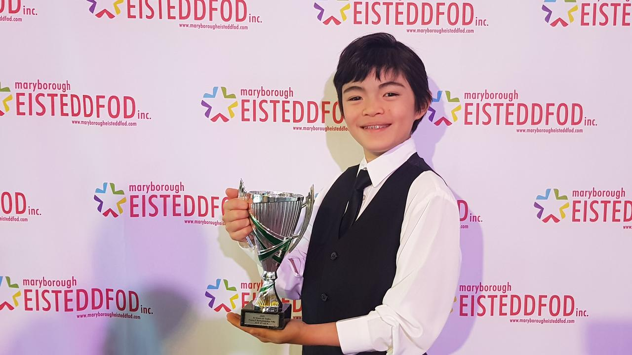 RISING STAR: Gayndah 10-year-old Donald MacGregor won a slew of awards at this year's Maryborough Eisteddfod and has received a scholarship at attend school in Mackay next year. Photo: Contributed