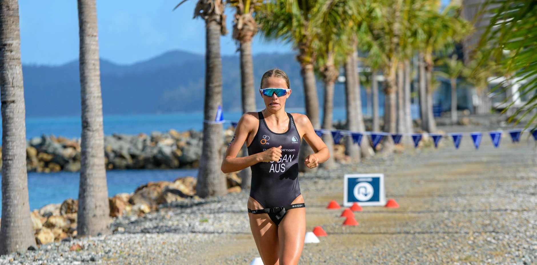 Triathlete Emma Hogan during the 2019 Hamilton Island Triathlon.