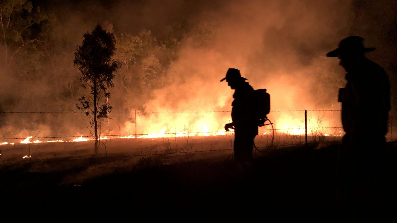 The backburning operation gets underway as bushfires threaten the Kalinga cattle station in Cape York. PICTURE: IAN MICHAEL