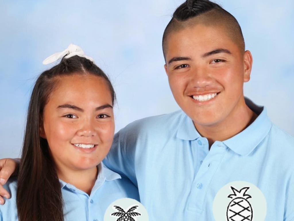 Leonidus Hinekiteao and sister Serenity. Picture: Ayla Hinekiteao