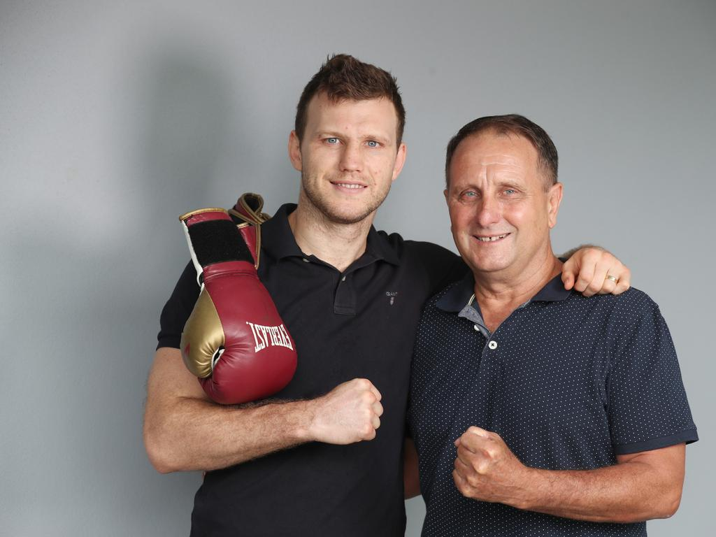 Jeff Horn and Jeff Horn Sr. Picture: Annette Dew