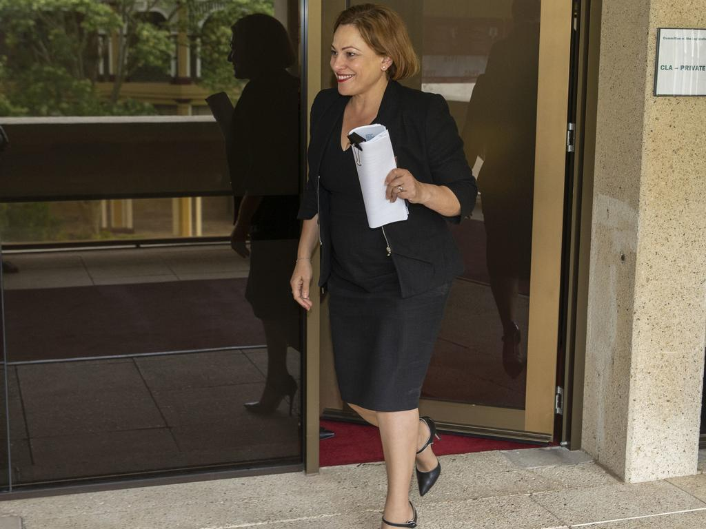Jackie Trad at Parliament yesterday. Picture: Glenn Hunt/AAP