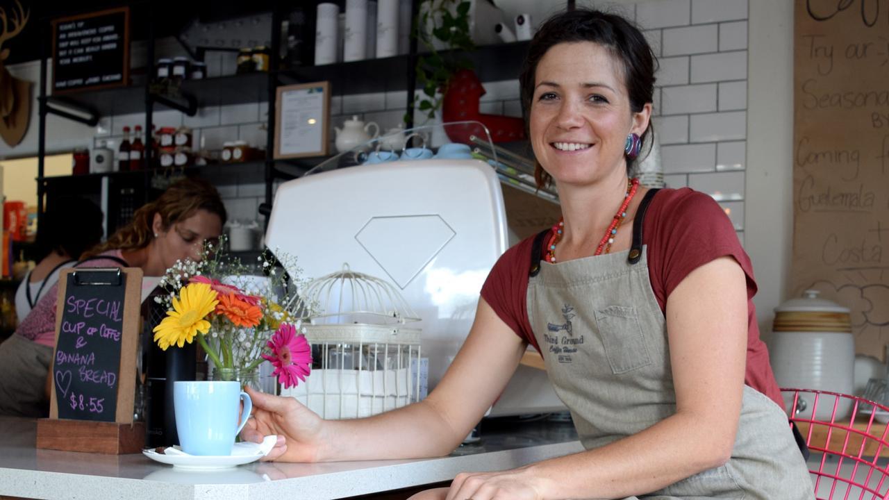 Sarina farmer and Third Ground Coffee House owner Alexes Marshman. Photo: Louise Starkey