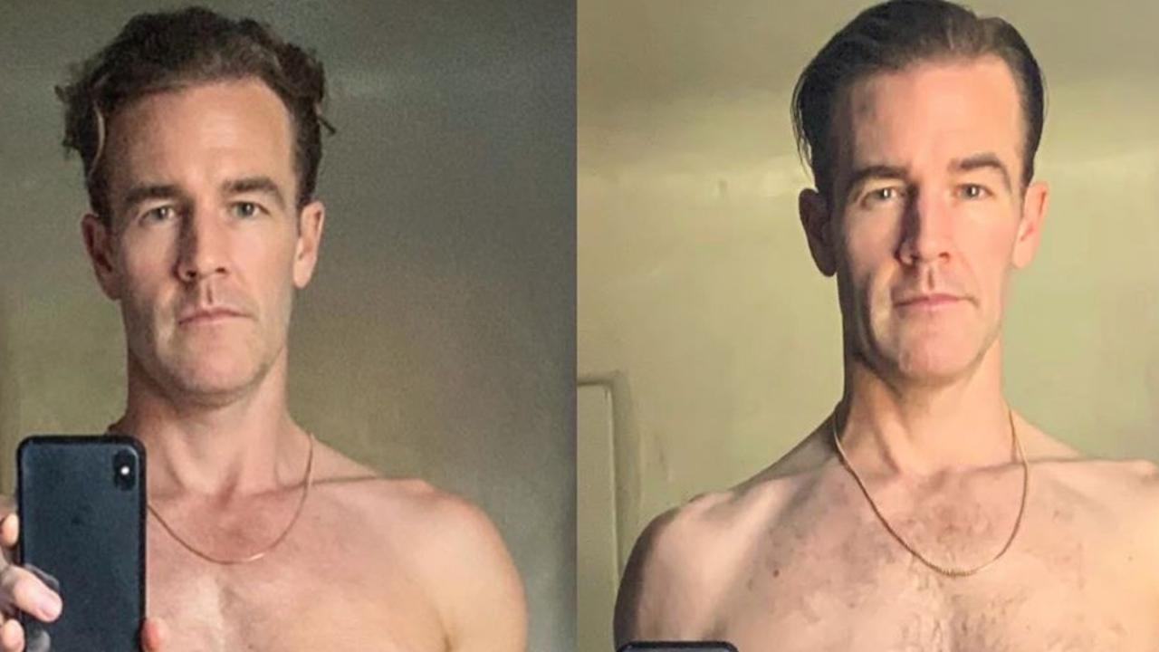 James van der Beek, before and after.