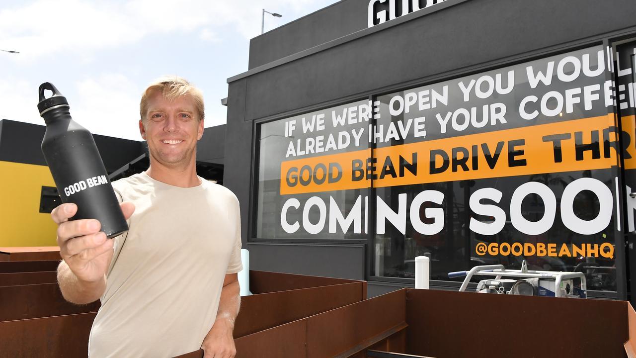 COFFEE: Owner Shane Hepburn has opened Good Bean drive-through in Maroochydore. Photo Patrick Woods / Sunshine Coast Daily.
