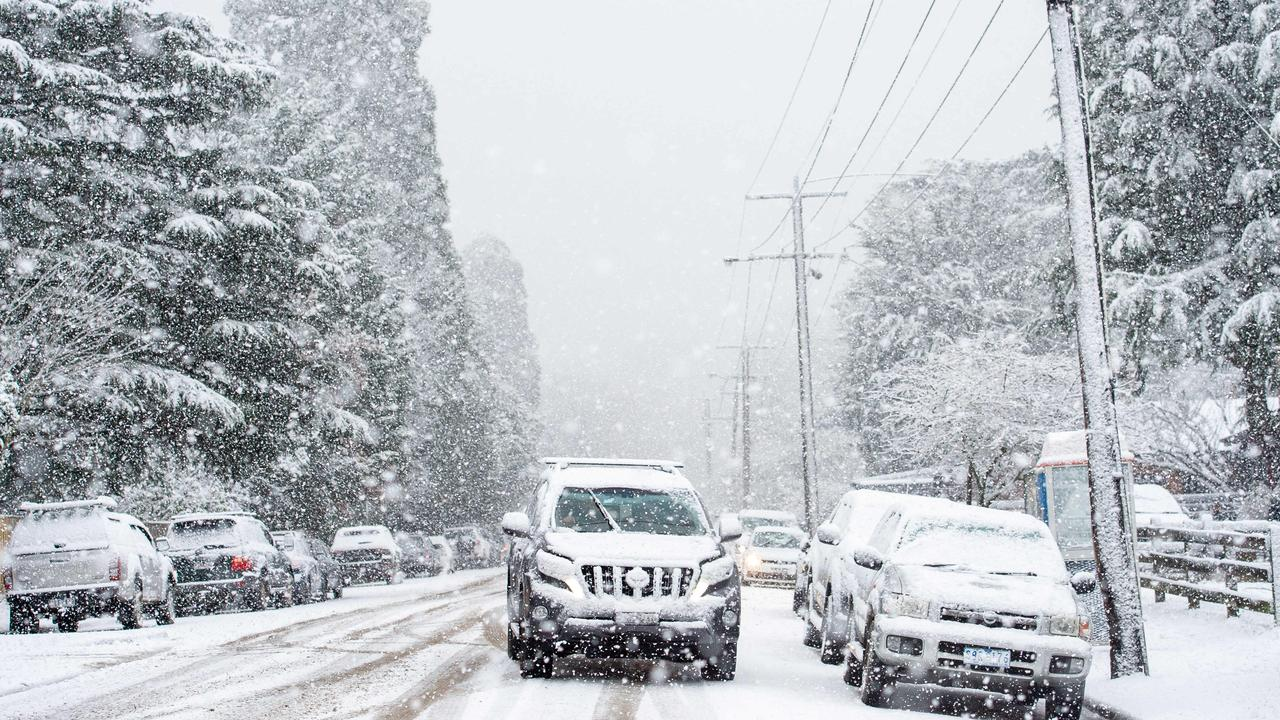 Snow falling in the Mount Macedon area will be a rarity. Picture: Jay Town