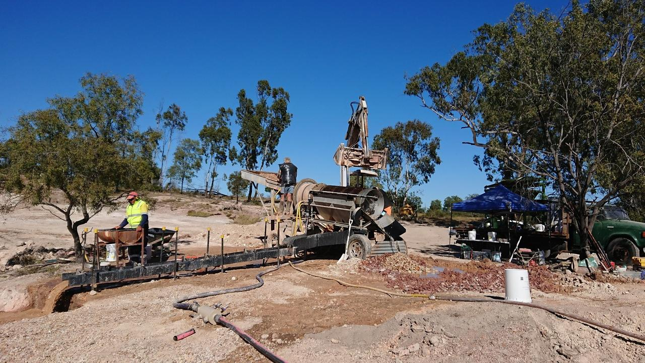 Impact Minerals Limited's water processing set up for bulk sampling at Blackridge.