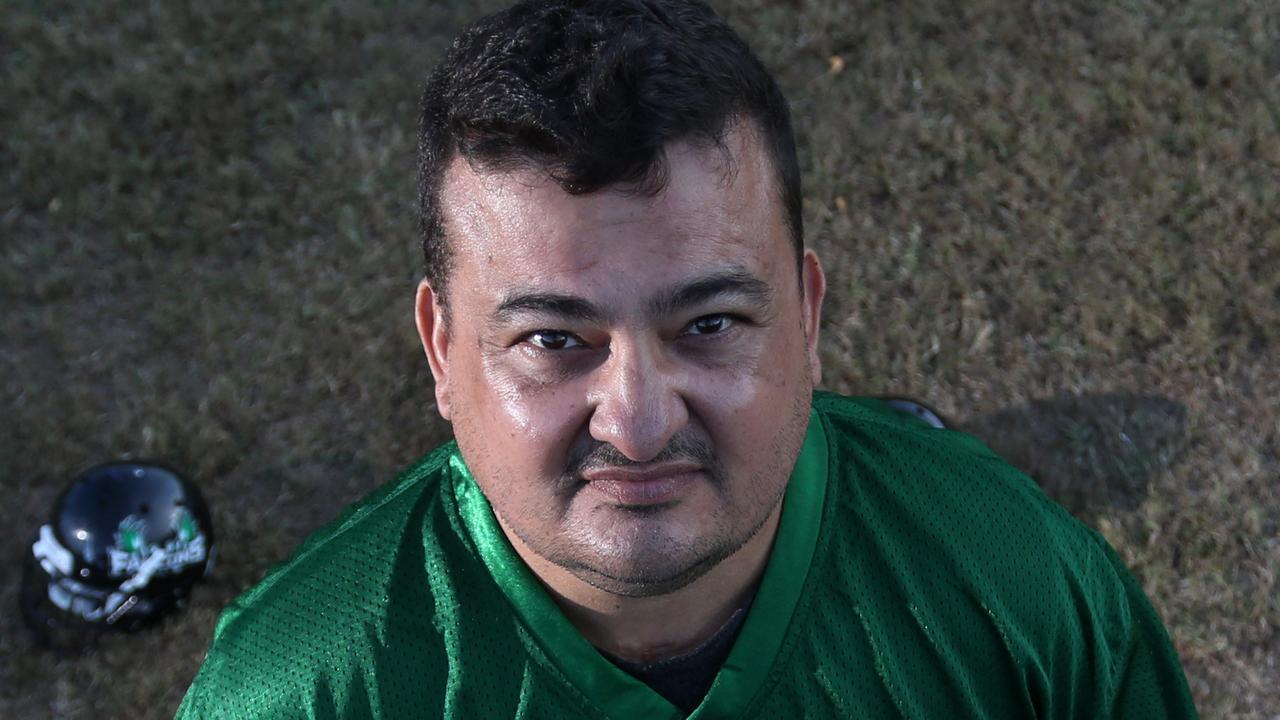 Cairns Falcons coach Jim Garcia.