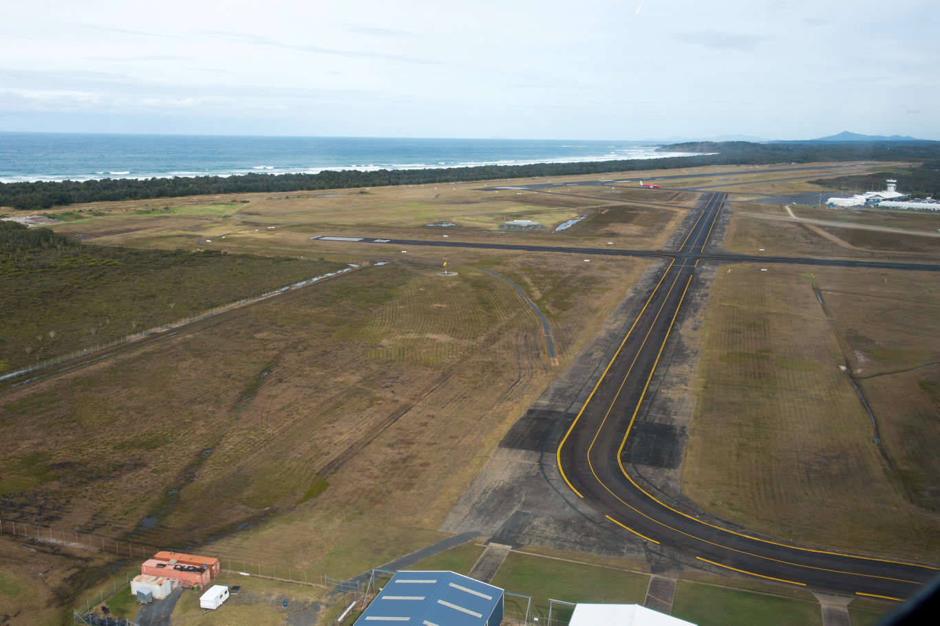 Aerials Coffs harbour from westpac helicopter.airport coffs harbourPhoto: Trevor Veale / The Coffs Coast Advocate