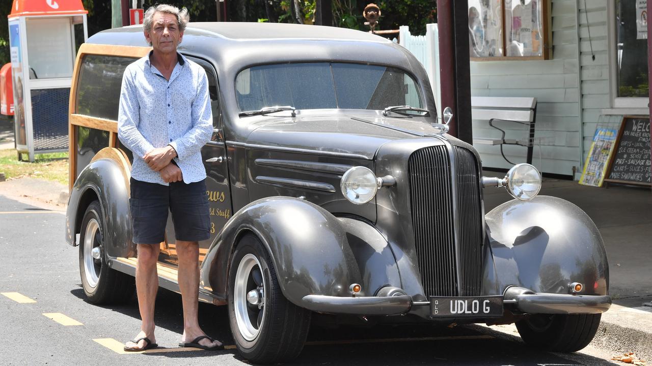 Ian Hughes with his 1936 Chevrolet Delivery. Photo: John McCutcheon