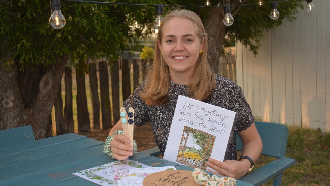 GREATER GIFTS: Emmy Cooper sells earrings, pot mats and prints to raise money to support Compassion children in the Philippines. Photo: Jessica McGrath
