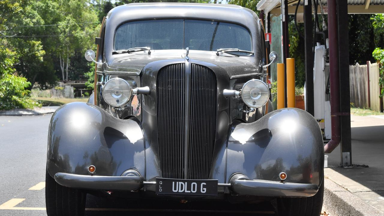 Ian Hughes with his 1936 Chevrolet Delivery. Photo: John McCutcheon / Sunshine Coast Daily