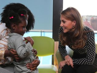 The Duchess of Cambridge spent two days working in a maternity ward this week. Picture: Ian Vogler/POOL/AFP