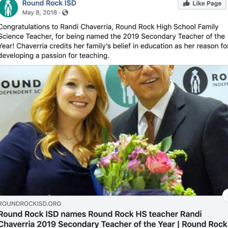 Randi Chaverria was recognised as 2019 Secondary Teacher of the Year.
