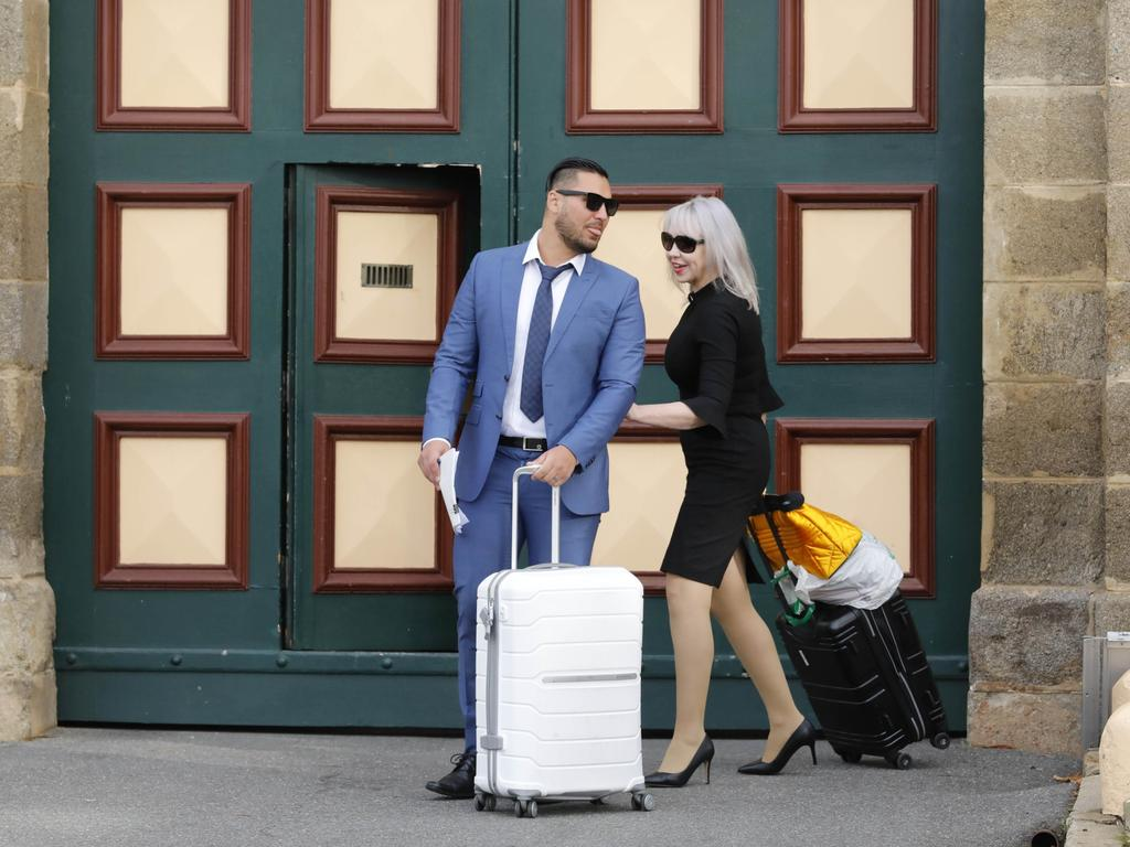 Salim Mehajer and his solicitor Zali Burrows leaves Cooma Jail in May after he served 11 months for electoral fraud. Picture: Sean Davey.