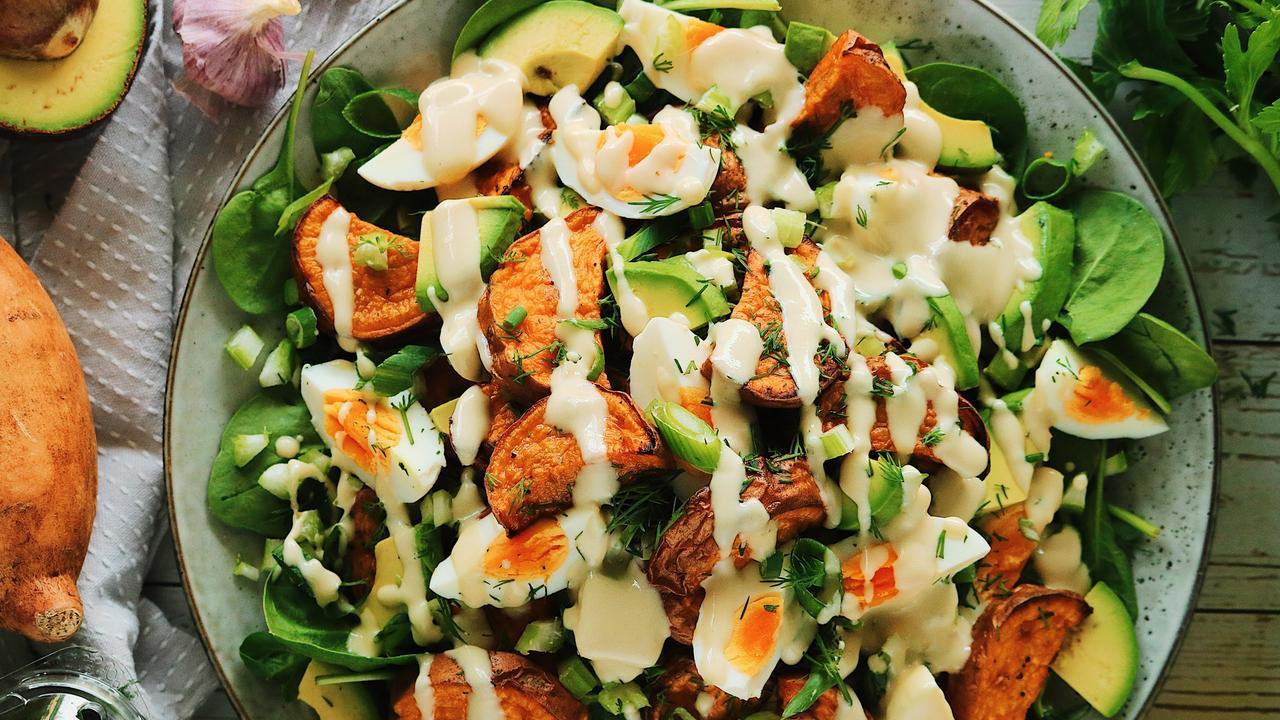 Sweet potato salad by Laura Scherian. Photo by Kulay Creatives