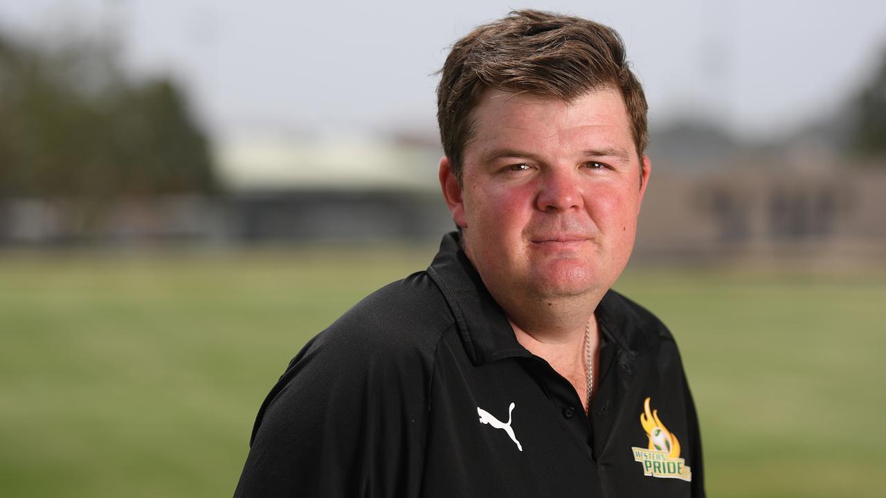 Western Pride head coach Andrew Catton.