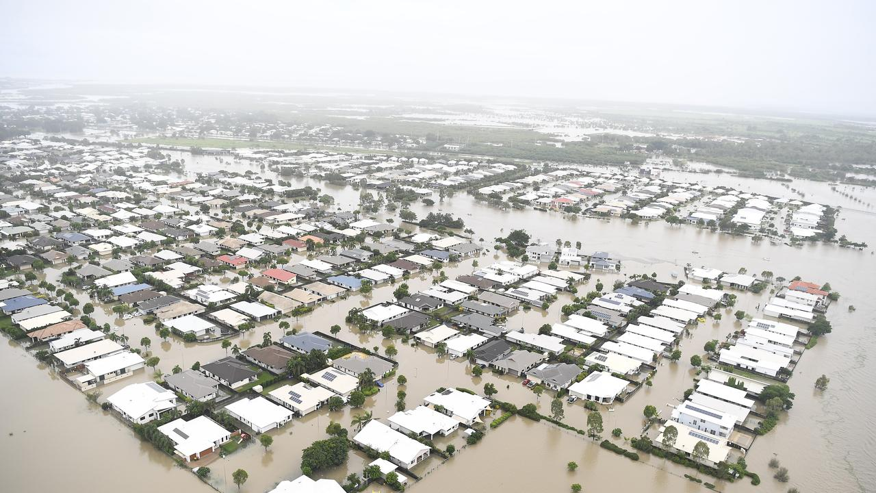 Seen is a general view of the flooded area of Townsville on February 04, 2019 in Townsville, Australia. (Photo by Ian Hitchcock/Getty Images)