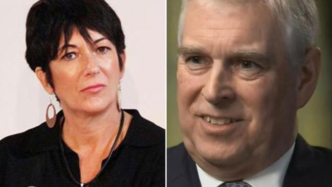 Ghislaine Maxwell and Prince Andrew. A masseuse recognised the house in a photo of Prince Andrew as being upstairs in Maxwell's home. Picture: Supplied