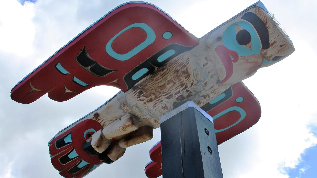 A First Nations totem. Picture: Shirley Sinclair