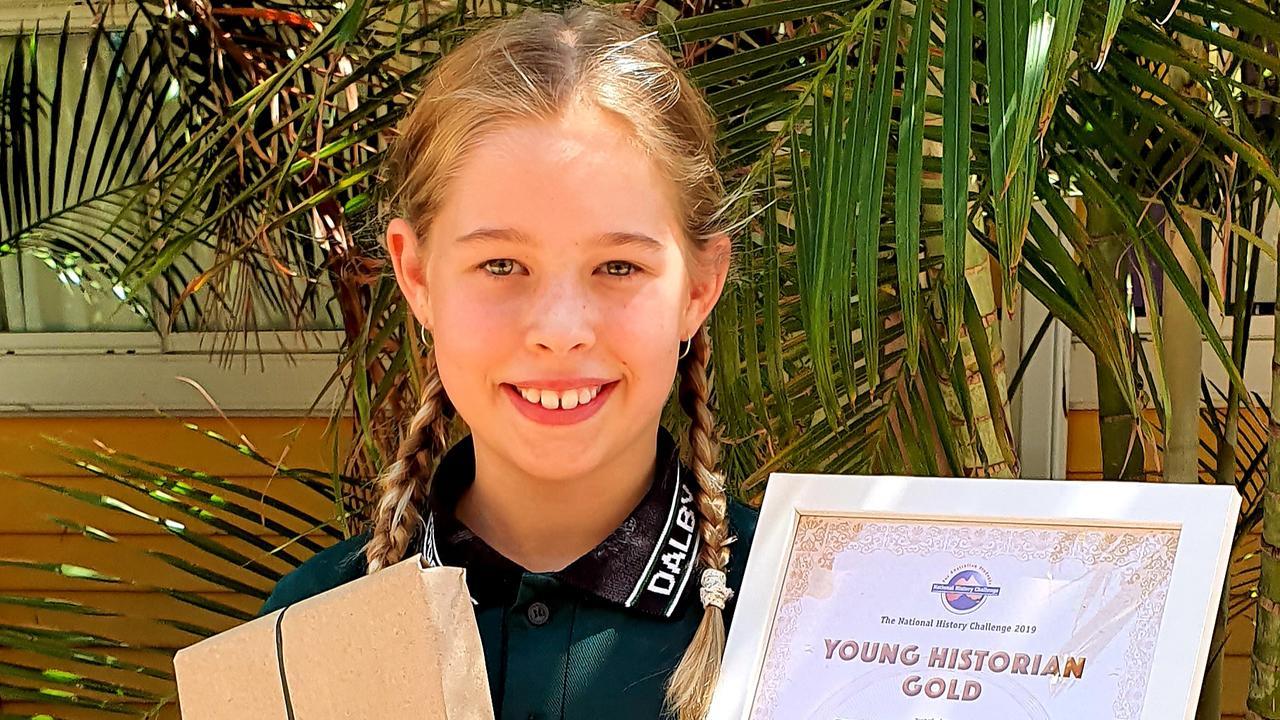 Gemma Ruddy won the 2019 Queensland History Challenge for Year 4.