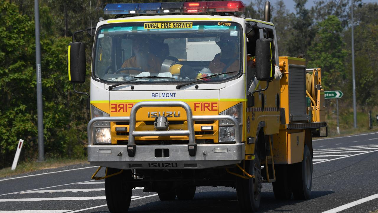 COMFORTING SIGHT: Many Rural firefighters are threatening to quit over the Blue Card dispute with the Queensland Government.