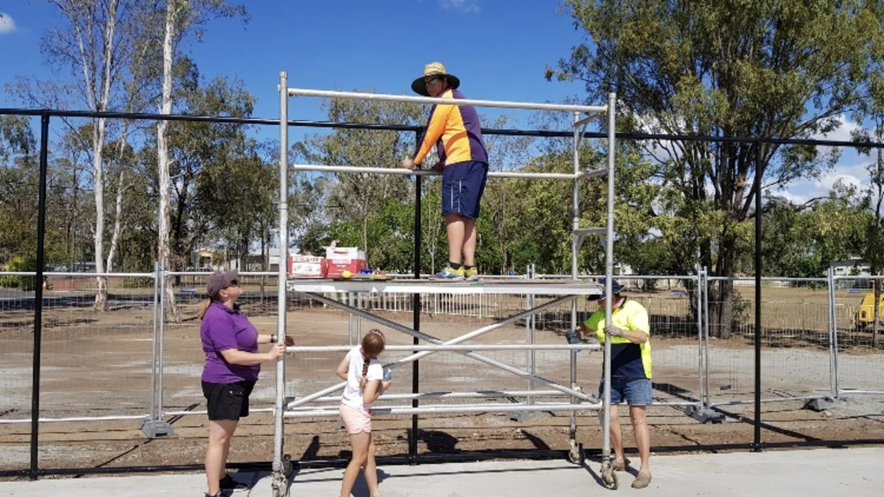 IN PROGRESS: The Callide Valley Tennis Association courts are getting a $143,000 upgrade following safety concerns.