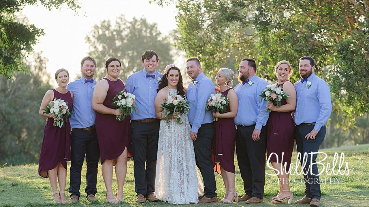 Georgia Doran and Angus King have married at Caloundra. Picture: ShellBells Photography