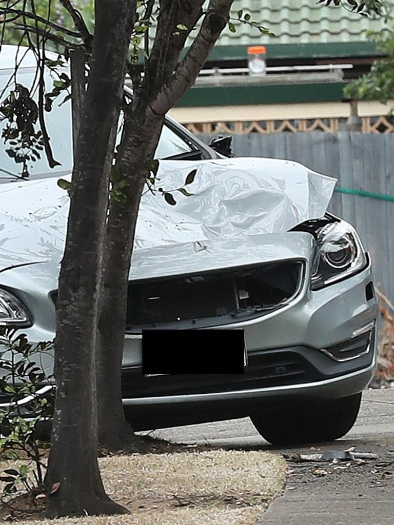 The stolen car that struck Constable McAulay