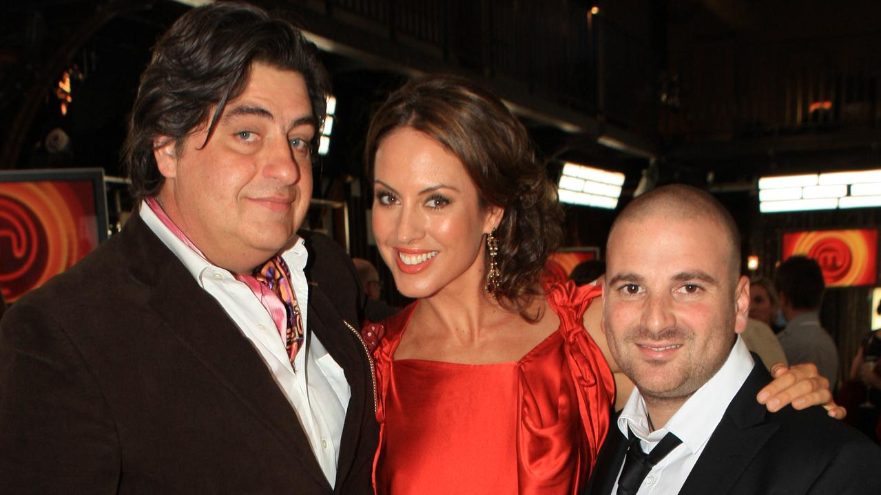 Matt Preston (L), Sarah Wilson and George Calombaris.