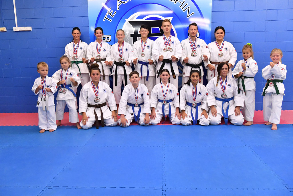 Bayside Martial Arts students recently returned from New Zealand where they competed in an Australasian karate tournament.