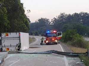 Truck crash south of Coffs closes Pacific Highway