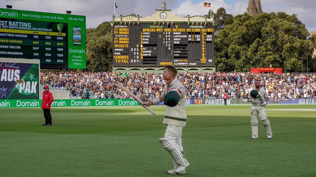 Warner's 335 not out puts him second on the all time list of Australian Test innings.