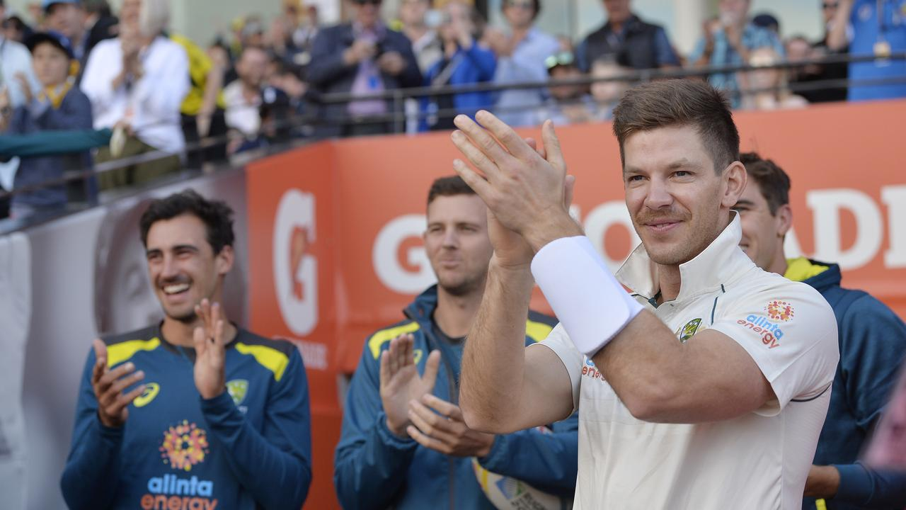 Tim Paine called the batsmen in with David Warner 65 runs shy of the all time record and tracking towards it.