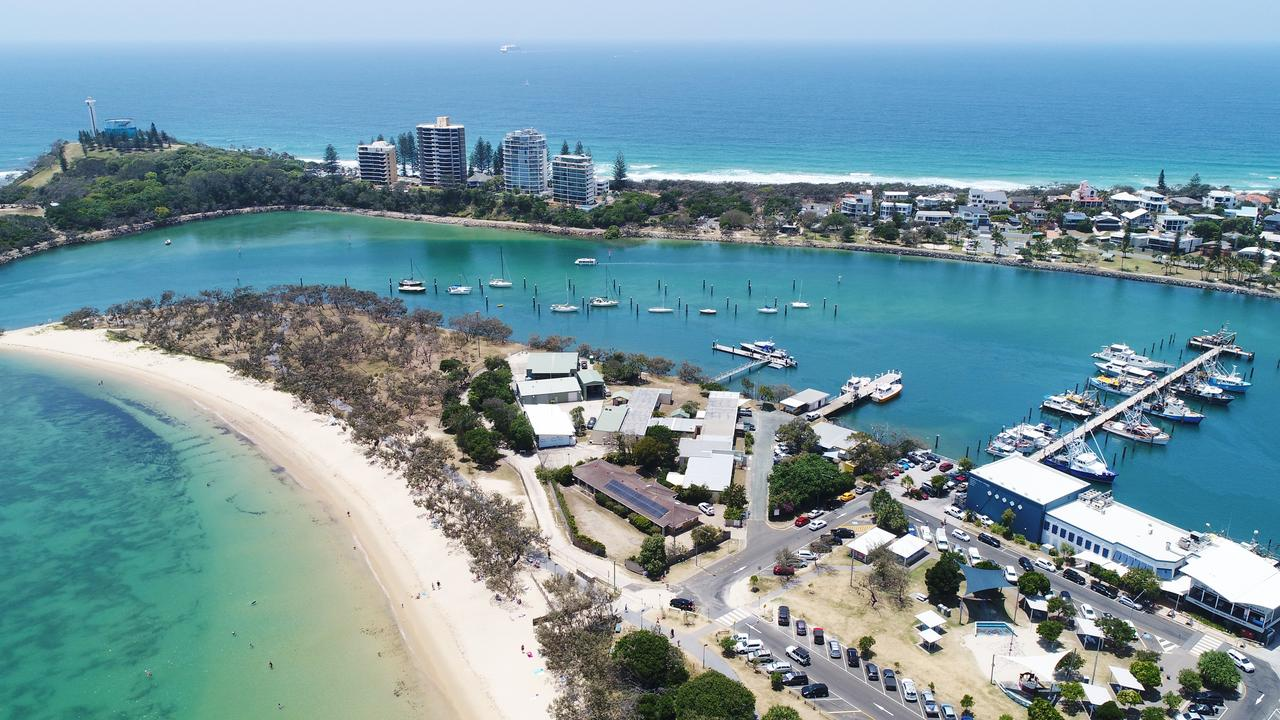 Concerns over plans to redevelop Queensland Transport held land occupied by a series of buildings at the end of Mooloolaba Spit raise questions about when more is too much. Photo Patrick Woods / Sunshine Coast Daily.