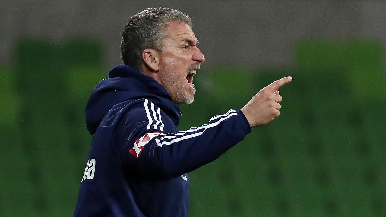 Melbourne Victory coach Marco Kurz implemented a counterattacking strategy against Glory. Picture: AAP Image/George Salpigtidis