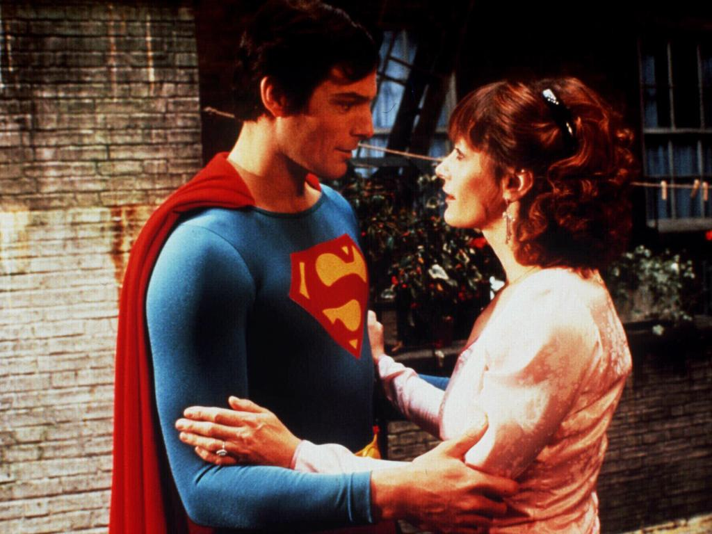 Christopher Reeve and Margot Kidder in Superman IV: The Quest For Peace.