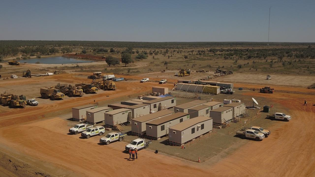 The Adani site at its Central Queensland Carmichael project.