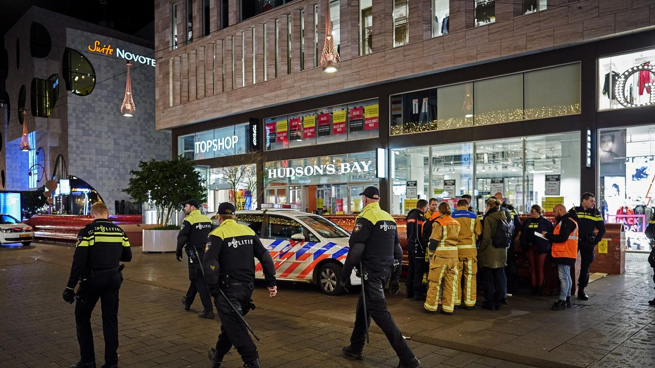 Dutch police say multiple people have been injured in a stabbing incident in The Hague's main shopping street. Picture: AP/Phil Nijhuis
