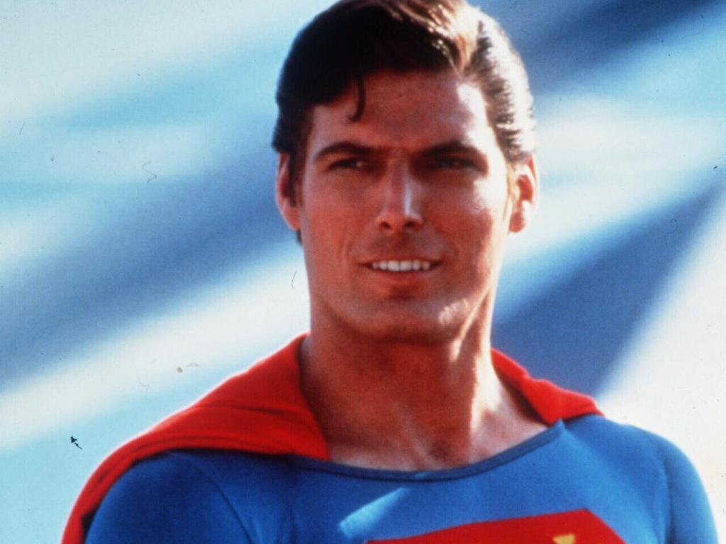 Christopher Reeve as the lantern-jawed superhero in 1996.
