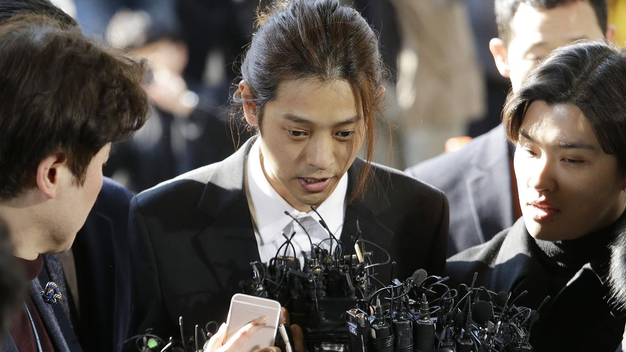 Jung Joon-young (pictured) and Choi Jong-hoon were found guilty of rape and sentenced to six and five years of prison.