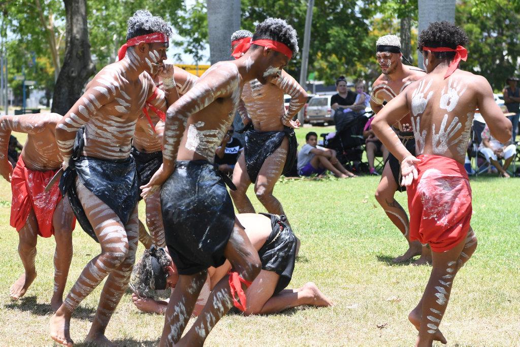 Image for sale: Indigenous dancers in Rockhampton on Sunday